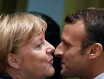 Merkel e Macron vão a bar após conversas sobre Brexit