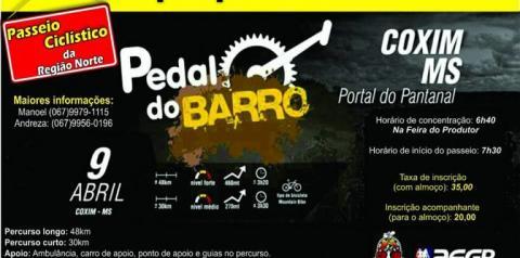 Pedal de Barro reunirá mais de 400 ciclistas em Coxim