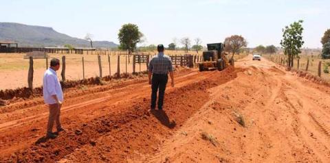 Prefeitura inicia obra importante em estrada vicinal de Alcinópolis