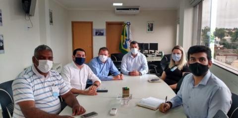 Prefeito Dalmy Crisóstomo visita o Gabinete do Superintendente Estadual da FUNASA