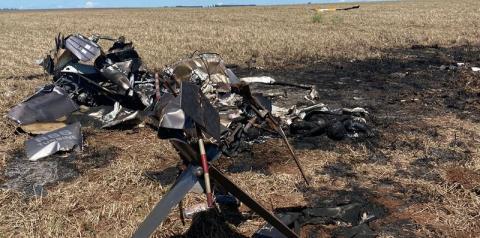 AGORA: Helicóptero carregado de cocaína explode e mata dois carbonizados em Mato Grosso do Sul