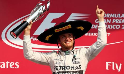Rosberg lidera do início ao fim e vence no México