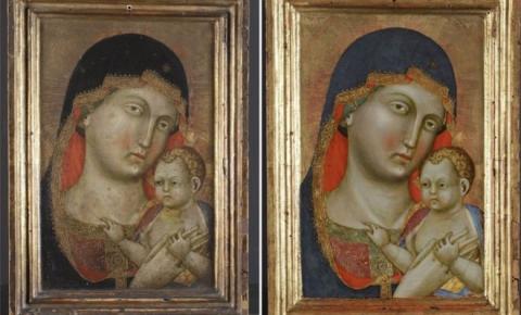 Restauração revela pintura escondida nas costas de retrato medieval da Virgem Maria com Jesus