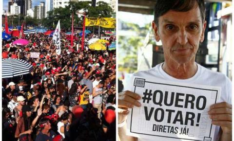 Ato por 'Diretas Já' une artistas e manifestantes na zona oeste de São Paulo