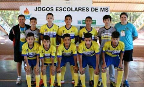 Futsal de Alcinópolis está entre os 16 melhores do Estado nos Jogos Escolares 2017