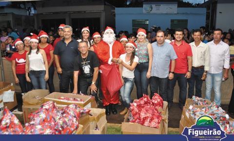 Prefeitura de Figueirão entrega presentes de Natal para as crianças