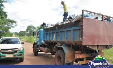 Prefeitura de Figueirão investe em Qualidade de Vida e o lixão do município será enviado para o Aterro Sanitário de Três Lagoas