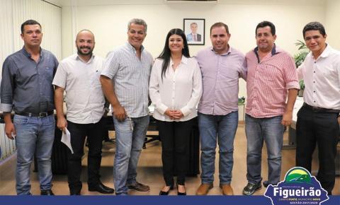 Prefeito e vereadores de Figueirão se reúnem com a governadora Rose Modesto e Secretário de Estado de Saúde Carlos Coimbra
