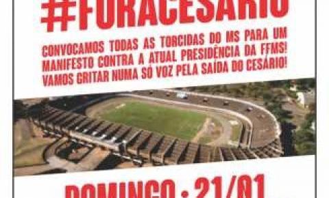 Torcedores organizam manifesto '#Fora Cesário', no Morenão neste domingo