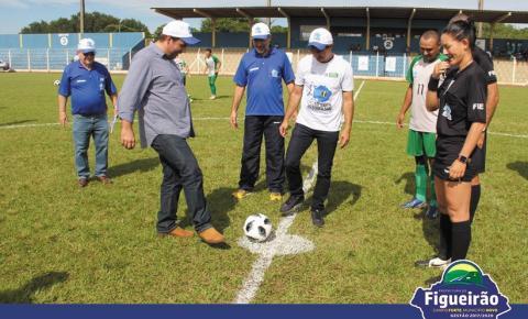 Prefeito de Figueirão abre oficialmente a 15ª Copa Assomasul com a participação de 60 equipes