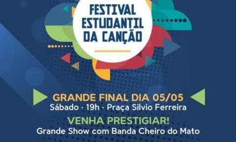 Final do Festival Estudantil da Canção acontece sábado à noite na praça Silvio Ferreira