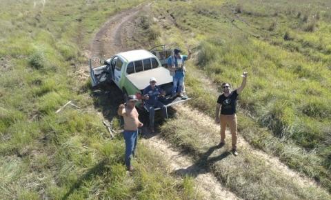 Bilhete preso em drone salva equipe de filmagem no meio do Pantanal