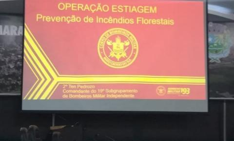Corpo de Bombeiros faz palestra em Alcinópolis sobre a prevenção as queimadas