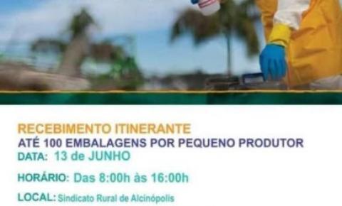 Ação coletiva promove nesta quinta-feira (13) campanha de recolhimento de embalagens vazias de agrotóxico