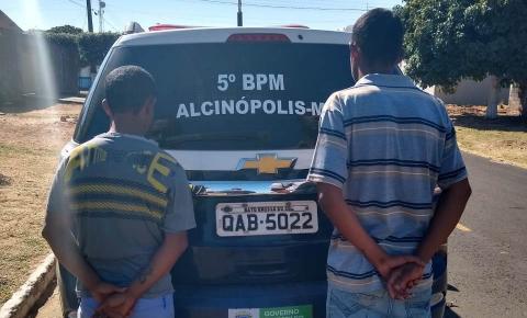 Polícia Militar prende autores de furto em Alcinópolis
