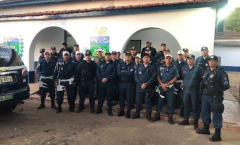 Comandante do Polícia Militar de Alcinópolis 3º sgt Melo e cabo Helenilson participam de curso de atualização de agentes de fiscalização de trânsito.