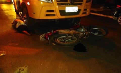Casal morre em acidente na avenida Márcio Lima Nantes, em Coxim