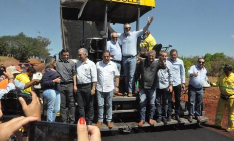 Governador e parlamentares inauguram obras durante aniversário de Figueirão