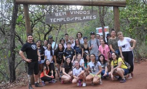 Alunos da FEC visitam sítio arqueológico Templo dos Pilares em Alcinópolis