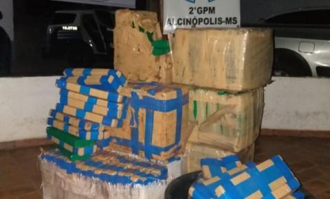 PM de Alcinópolis apreende 305 quilos de maconha e caminhonete abandonados em rodovia