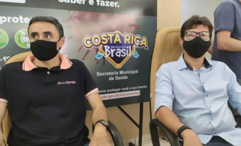 Em convenção Delegado Cleverson confirma candidatura a prefeito de Costa Rica. Roni Cota será o vice
