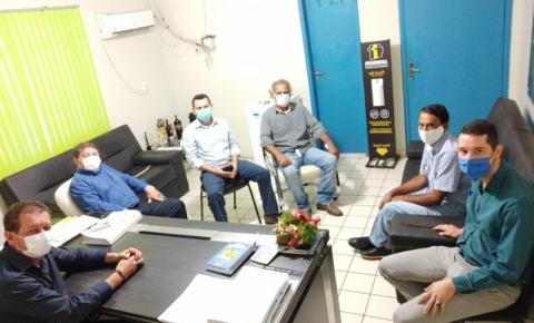 Prefeito Dalmy recebe visita do futuro Prefeito de Coxim Dr. Edilson Magro