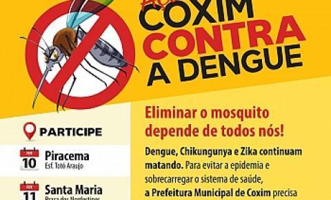 Coxim Contra a Dengue: Ação acontecerá nesta quarta, quinta e sexta-feira