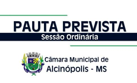 Legislativo de Alcinópolis divulga pauta prevista para a próxima Sessão Ordinária