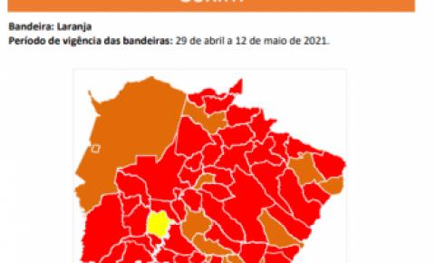 Coxim é a única cidade da região norte a permanecer na bandeira laranja