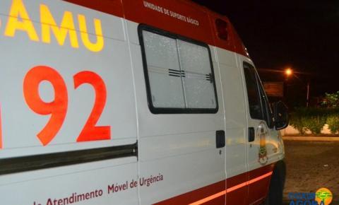 Menina de 12 anos é socorrida pelo SAMU após ser atingida por carro em Silviolândia