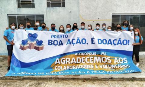 Projeto Boa Ação é Doação distribui 50 cestas básicas em Alcinópolis
