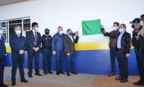 Prefeito de Costa Rica e vice participam da inauguração da Base Operacional da PMRv na MS-306