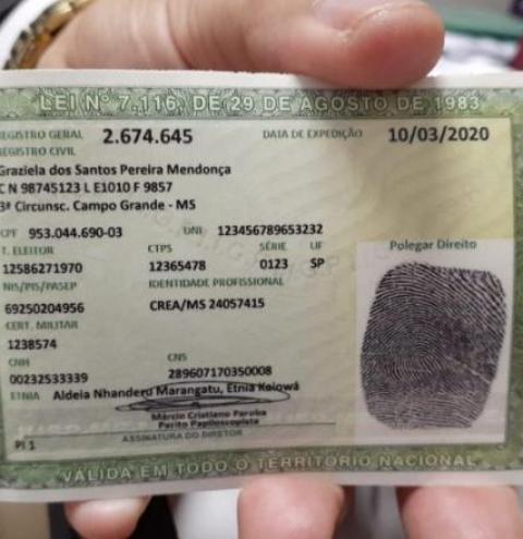 Nova Carteira de Identidade começa a ser emitida em Mato Grosso do Sul