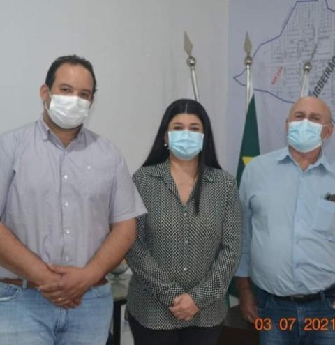 Em busca de melhorias para Figueirão, prefeito e vice se reúnem com a deputada Rose Modesto