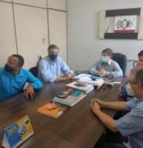 Em Coxim Deputado Dagoberto reúne se com prefeito Edilson, vereadores e líderes sindicais
